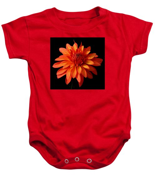 Orange Flame Baby Onesie