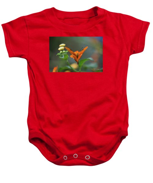 Orange Is The New Butterfly Baby Onesie