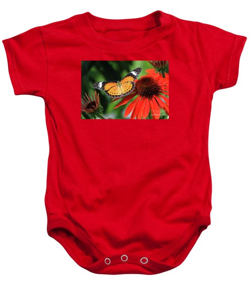 Orange Lacewing Baby Onesie