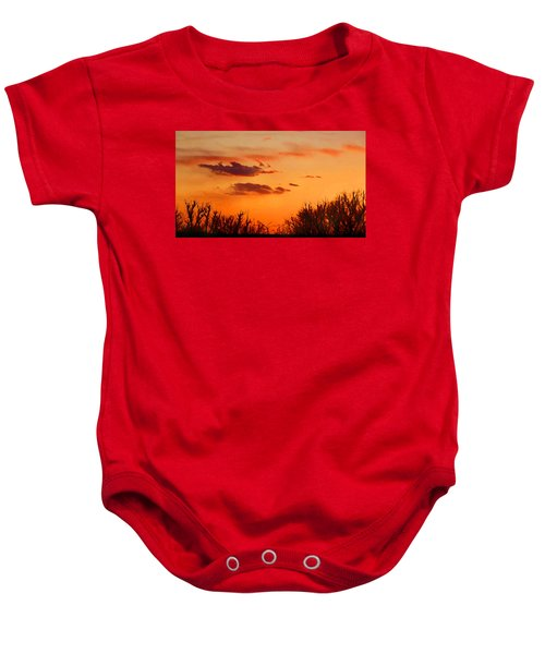 Orange Sky At Night Baby Onesie