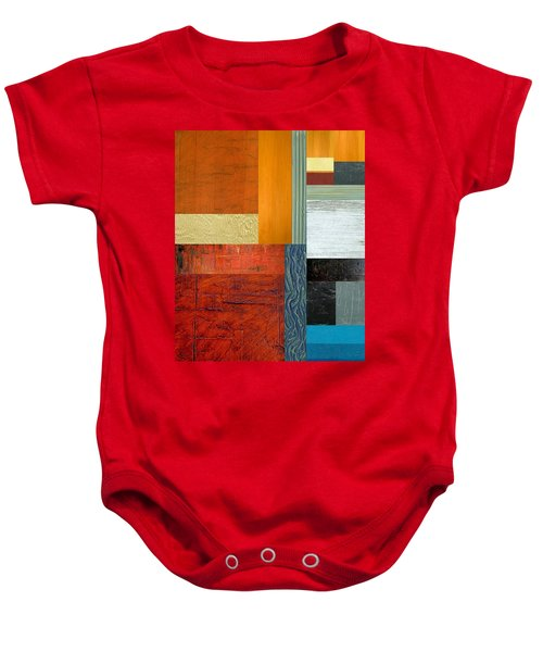 Baby Onesie featuring the painting Orange Study With Compliments 1.0 by Michelle Calkins