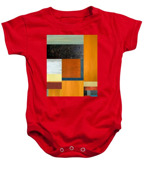Baby Onesie featuring the painting Orange Study With Compliments 2.0 by Michelle Calkins