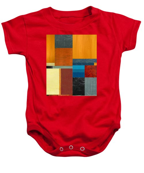 Baby Onesie featuring the painting Orange Study With Compliments 3.0 by Michelle Calkins
