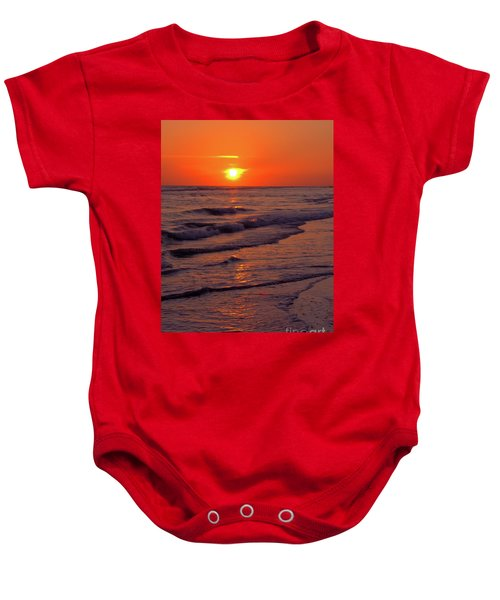 Orange Sunset Baby Onesie