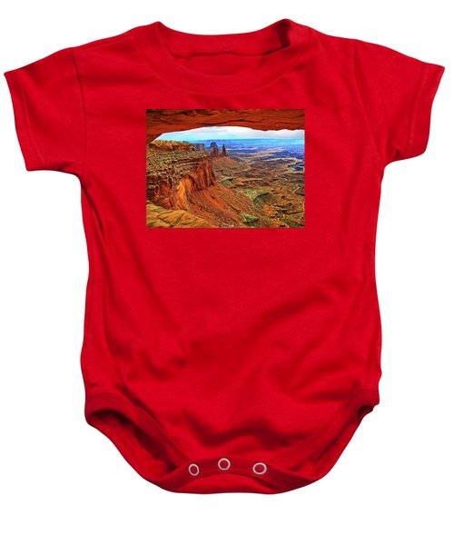 Overlooking Canyonlands National Park    Moab Utah Baby Onesie