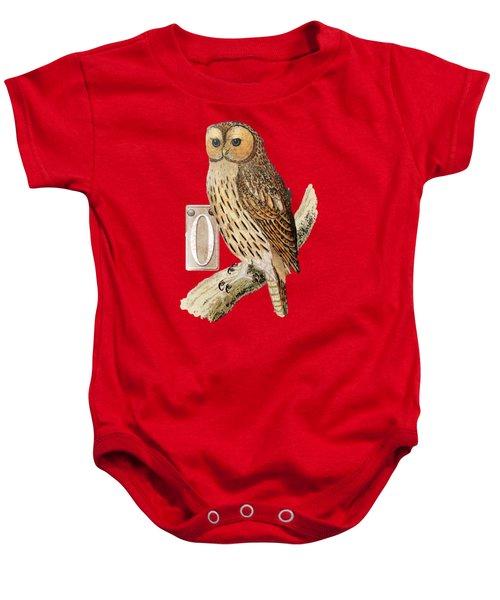 Owl T Shirt Design Baby Onesie