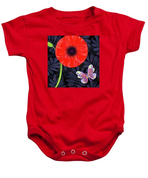 P Is For Pretty Poppy Baby Onesie