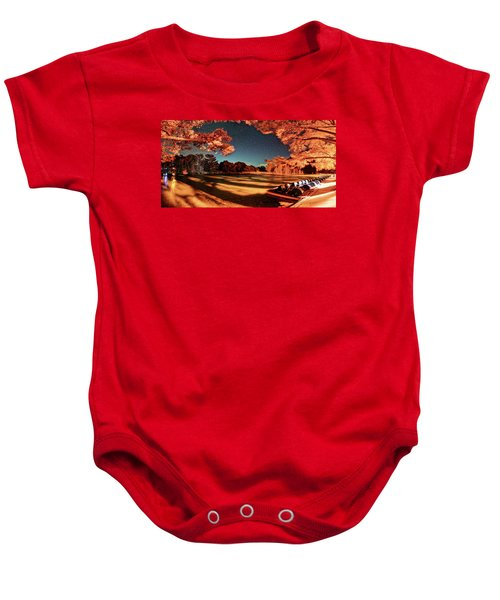 Panorama Of A Starry Night Over The Frio River - Garners State Park - Texas Hill Country Baby Onesie