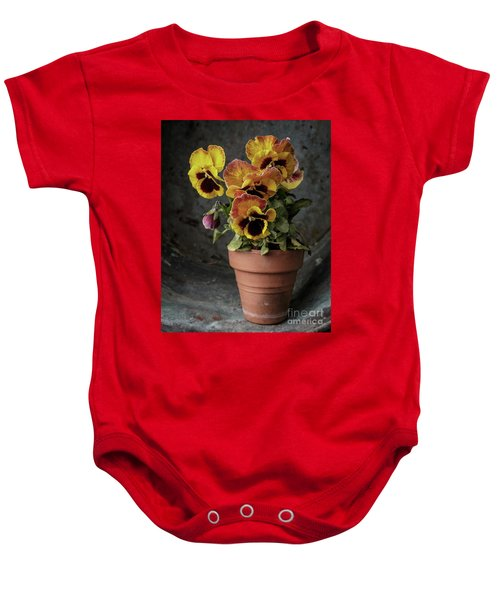 Pansy Flowers Baby Onesie