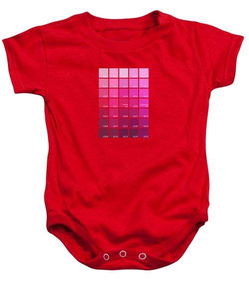 Pantone Shades Of Pink Baby Onesie