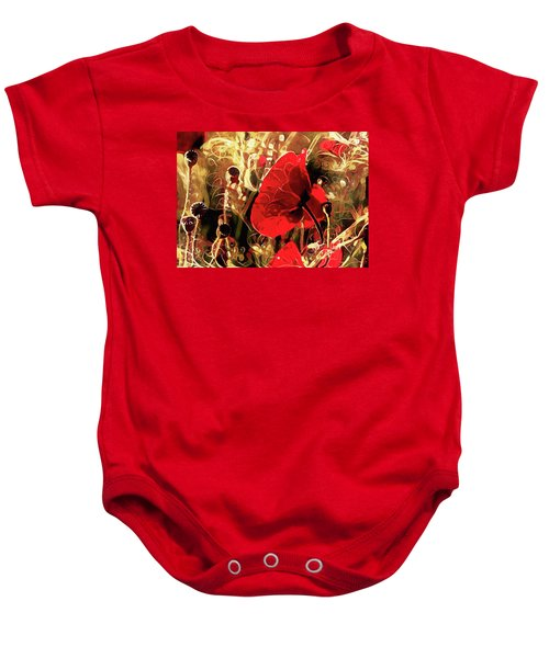 Passionate About Poppies Baby Onesie