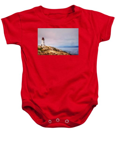 Peggys Point Lighthouse Baby Onesie