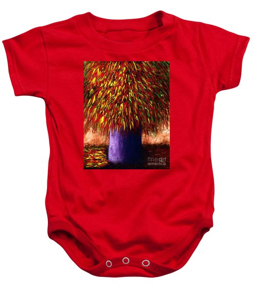 Peppered  Baby Onesie