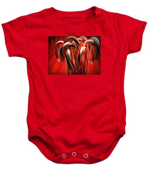 Peppermint Jumble Baby Onesie