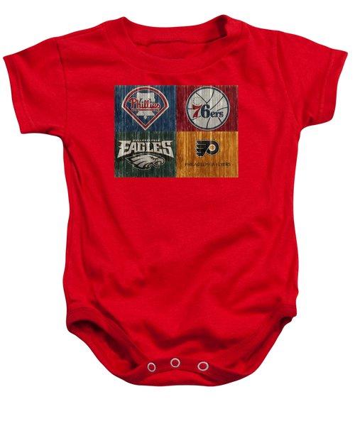 Philadelphia Sports Teams Baby Onesie