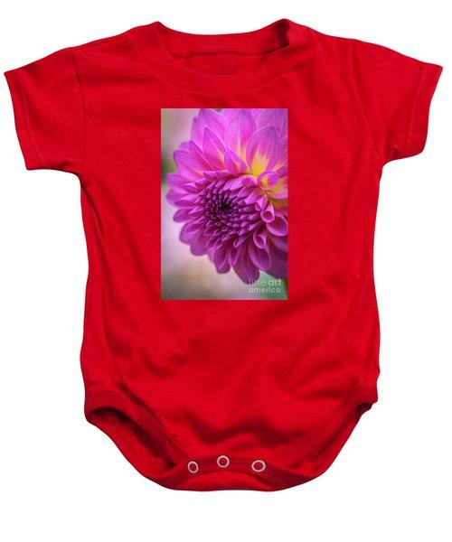 Pink Dahlia Baby Onesie