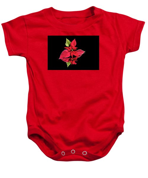 Poinsettia Reflection  Baby Onesie