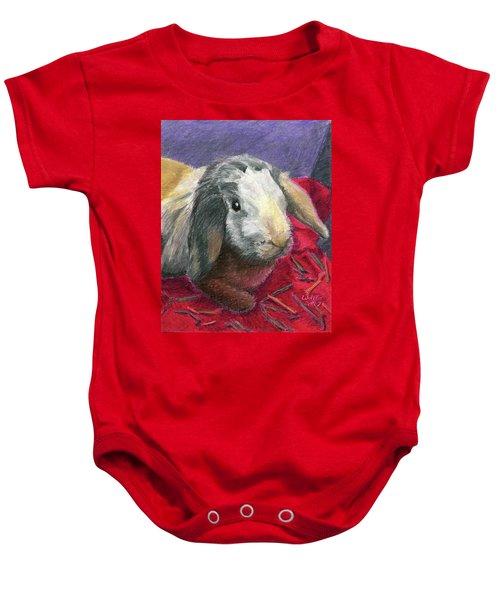 Portrait Of A Bunny Baby Onesie