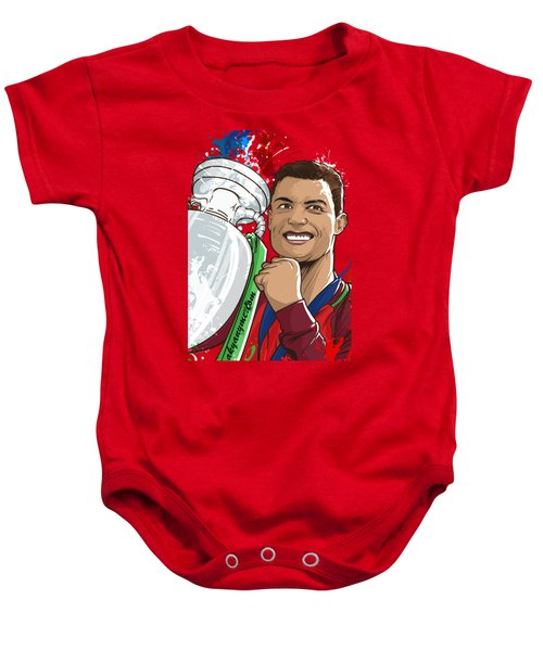 Portugal Campeoes Da Europa Baby Onesie by Akyanyme