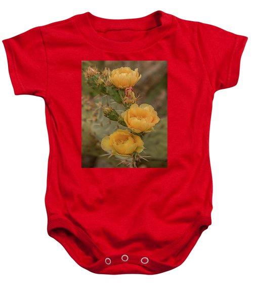 Prickly Pear Blossom Trio Baby Onesie