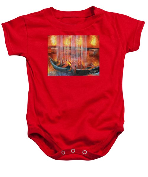 Prophetic Message Sketch 45 Detail Of Boat Baby Onesie