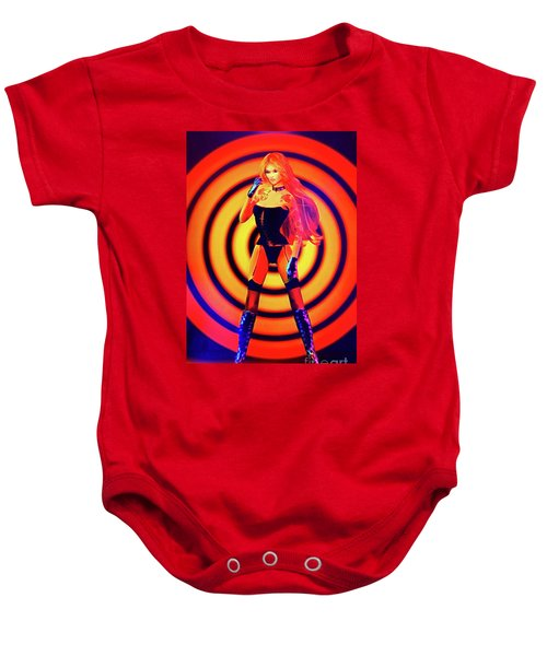 Psychedelic Hypnotic Pin-up Girl Baby Onesie
