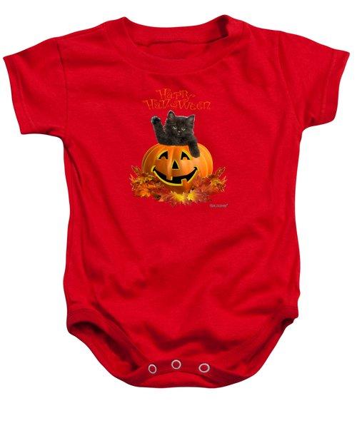 Pumpkin Kitty Baby Onesie