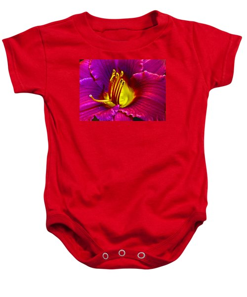 Baby Onesie featuring the photograph Purple Lily by Bill Barber