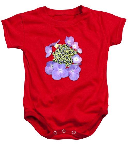 Purple Pods Sehemu Mbili Unyenyekevu Baby Onesie