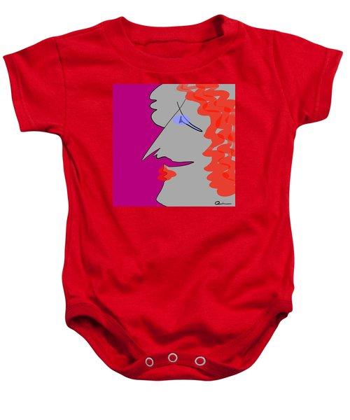 Purple Stache Baby Onesie