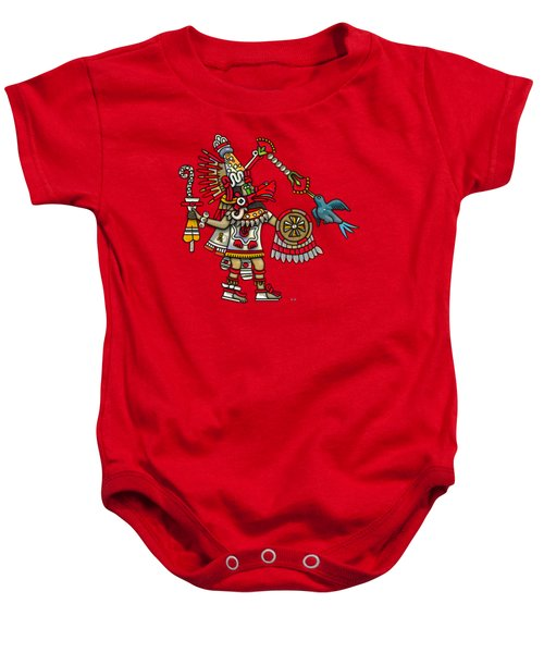 Quetzalcoatl In Human Warrior Form - Codex Magliabechiano Baby Onesie by Serge Averbukh