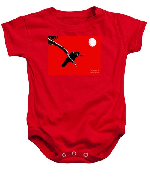 Quoth The Raven Nevermore . Red Baby Onesie