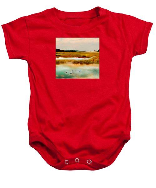 Racing The Tide Baby Onesie