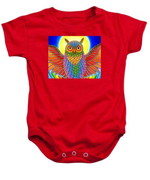 Rainbow Owl Baby Onesie