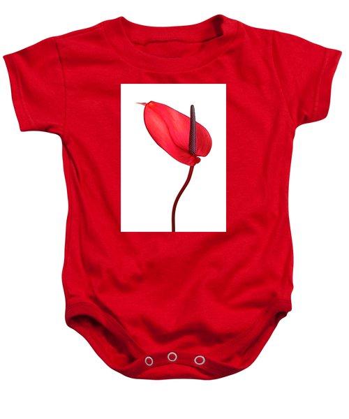 Red Anthrium Baby Onesie