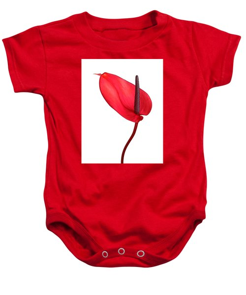 Red Anthrium Baby Onesie