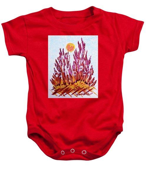 Red Beauties In The Garden Baby Onesie