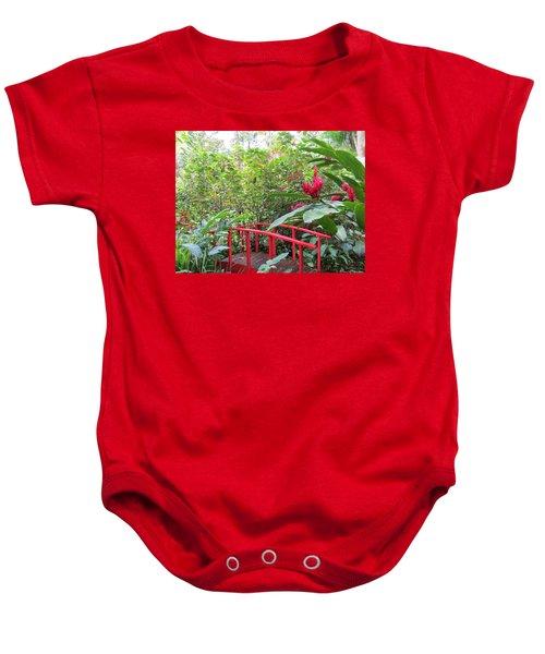 Red Bridge Baby Onesie by Teresa Wing