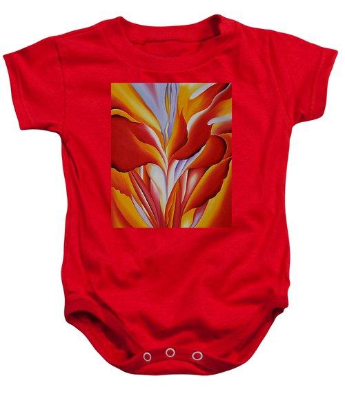 Red Canna Baby Onesie
