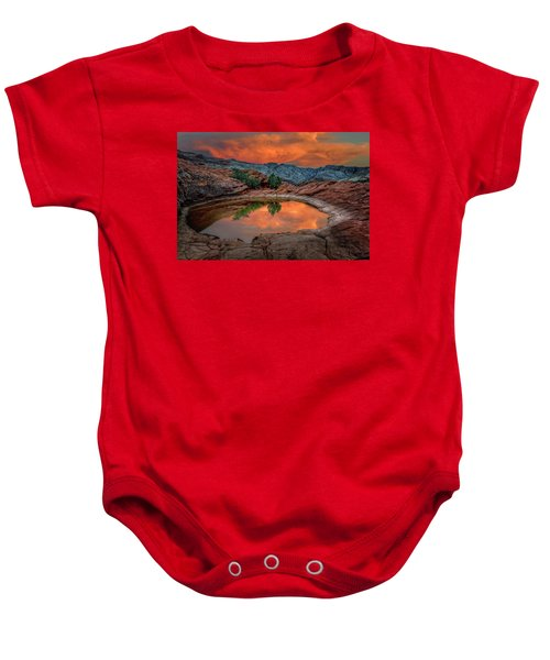 Red Canyon Reflection Baby Onesie