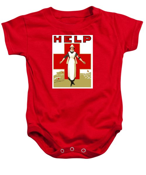 Red Cross Nurse - Help Baby Onesie