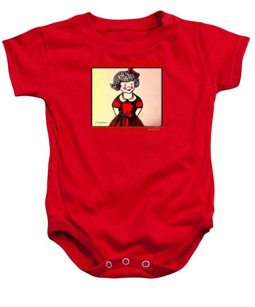 Red Dress Baby Onesie