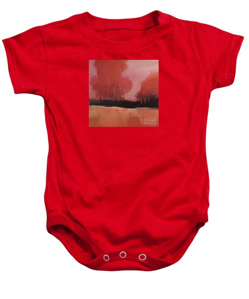 Red Flair Baby Onesie