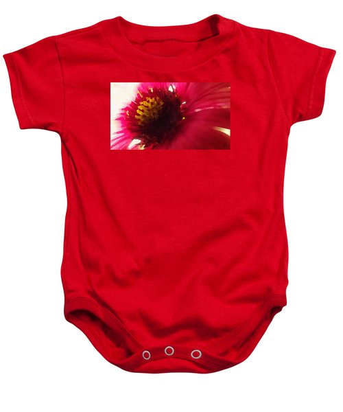 Red Flower Abstract Baby Onesie