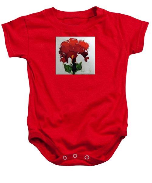 Red Flower Baby Onesie