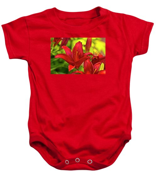 Baby Onesie featuring the photograph Red Lily by Bill Barber