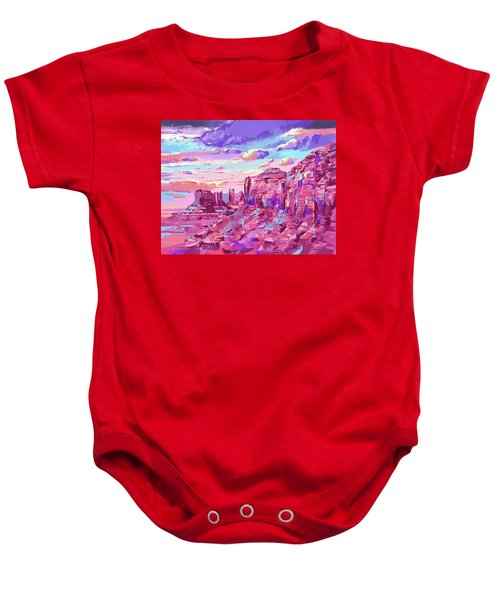 Red Mountains Baby Onesie