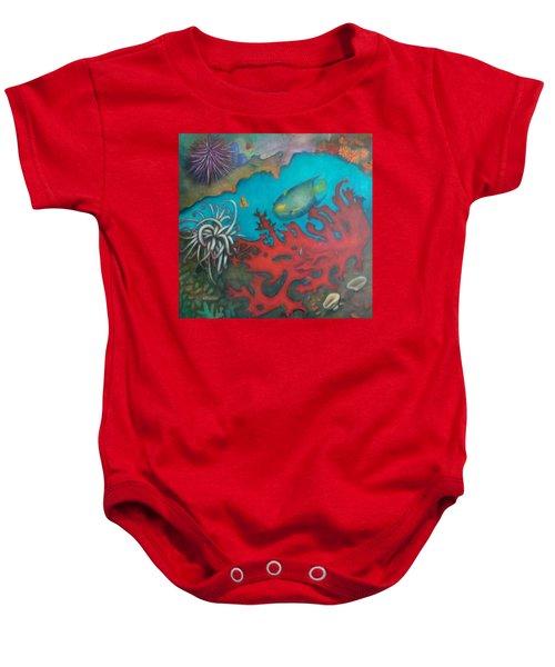 Red Reef Baby Onesie