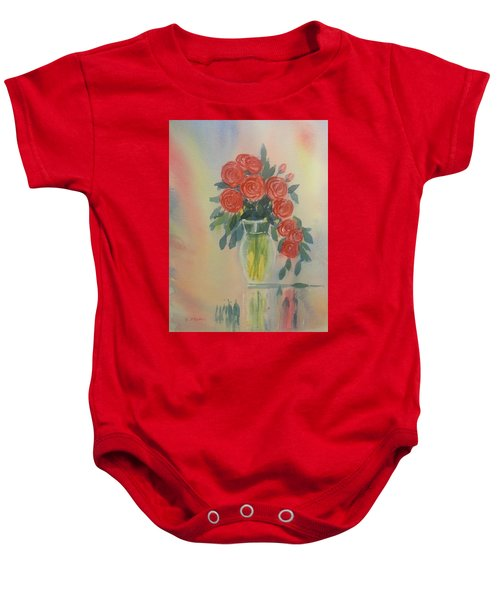 Red Roses For My Valentine Baby Onesie