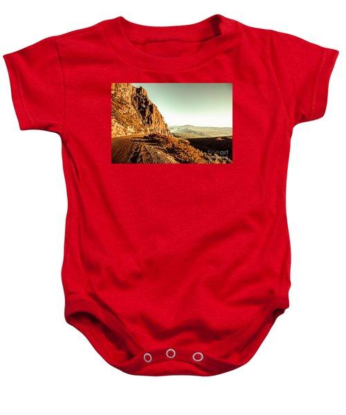 Red Rural Road Baby Onesie